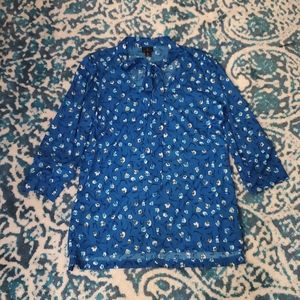 Quarter sleeve floral blouse